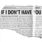 Tamar Braxton – If I Don't Have You 歌詞を和訳してみた